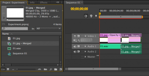 Adobe Premiere Pro CS6 merged clips in timeline