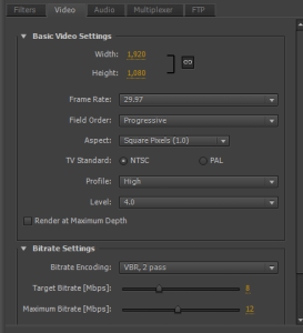 Premiere Pro h264 encoding